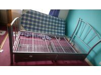 Single bed. Metal. 2 drawers. Collection only.