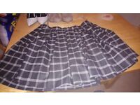 Size 16 New Look Checked Miniskirt