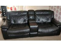 3 & 2 seat recliner leather sofas