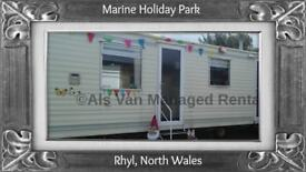 SEAS THE DAY: MARINE HOLIDAY PARK, RHYL, NORTH WALES: SLEEPS 7 MAX, DOG-FRIENDLY