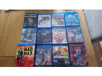Blu Ray films .£3 per movie