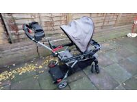 Double buggy with a board