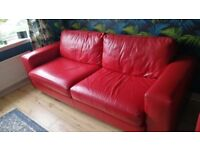 3 piece leather sofa suite for sale. One 4 seater, one 3 seater and single seater. Great condition
