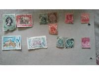 Postal stamps of aden, bermuda, natal, hong kong, malaya.