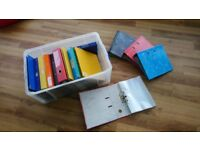 ** FREE for collection ** Lever Arch files, A4 Folders and plastic wallets
