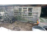 Metal agricultural gates