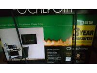 Cheshire flueless gas fire