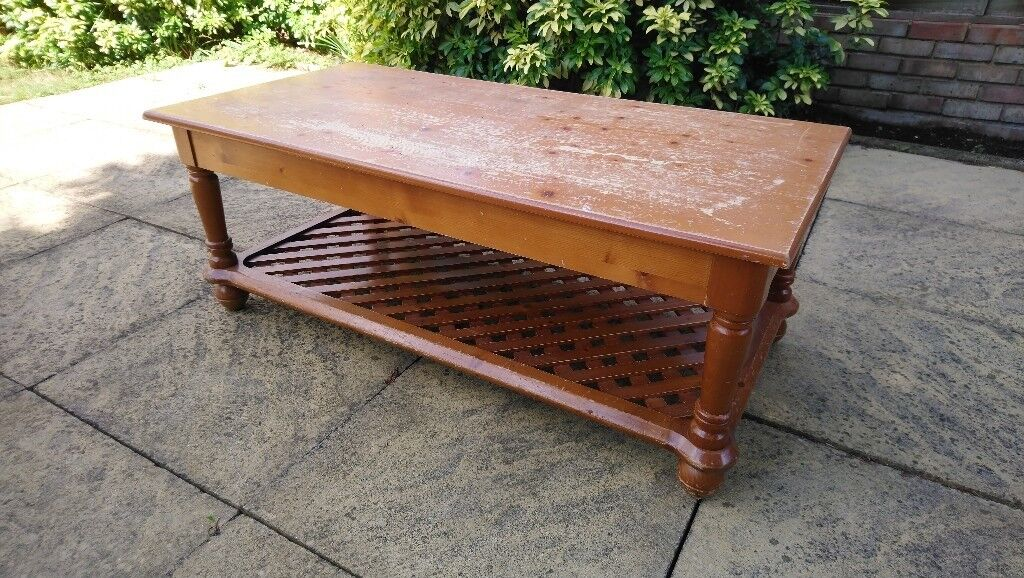 Solid Pine Coffee Table House Items For Sale In Basildon Essex - Pine coffee table for sale