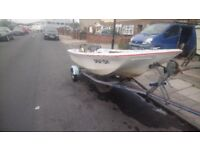 11 foot dory boat with out board