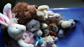 Assorted soft animal toys