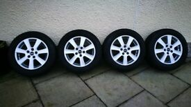 Fantastic Winter tyres and alloys (set of 4), came off Audi A4 - £280 ono