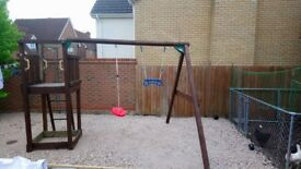 Jungle Gym climbing frame, swing and slide set