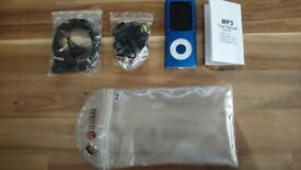 Blue MP3 Player w/Earphones (Never Used)