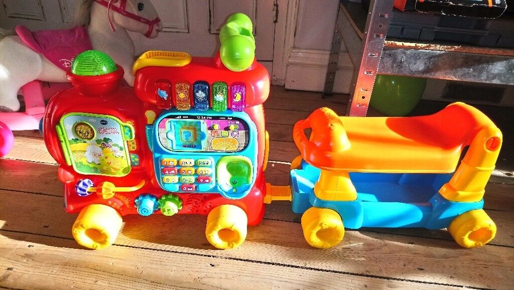 Disney and vtech toy train and pony kids childrens