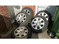 5 Audi VW Alloy Wheels