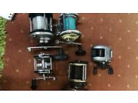 5 multiplier fishing reels all £10 each all working well