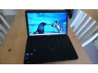 Laptop 15.6 Toshiba C850 1.7GHz 2GB ram win 7 laptop immaculate as new