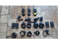 3 x Hytera TC610 Radio Walkie Talkies + Wall Chargers + Spare Batteries + Ear Pieces [Bargain!]