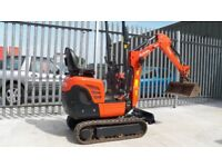 KUBOTA K008-3 MICRO MINI DIGGER,700 HOURS,EXPANDING TRACKS,TER,NO VAT,EXCELLENT CONDITION