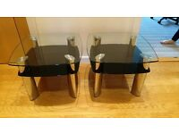 Ultra Modern Black, Glass & Chrome tables.