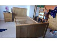 Oak single bed from Oak Furniture Land