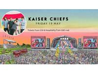 2 x Tickets - Kaiser Chiefs Aintree Racecourse Friday 19th May 2017