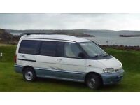Nissan Vanette 1999. Fully converted 2-berth camper. Solar panel, TV ariel, sink/hobs/fridge