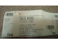 """2tickets to see the brilliant """"tokio myers"""" in london 10/4/18"""