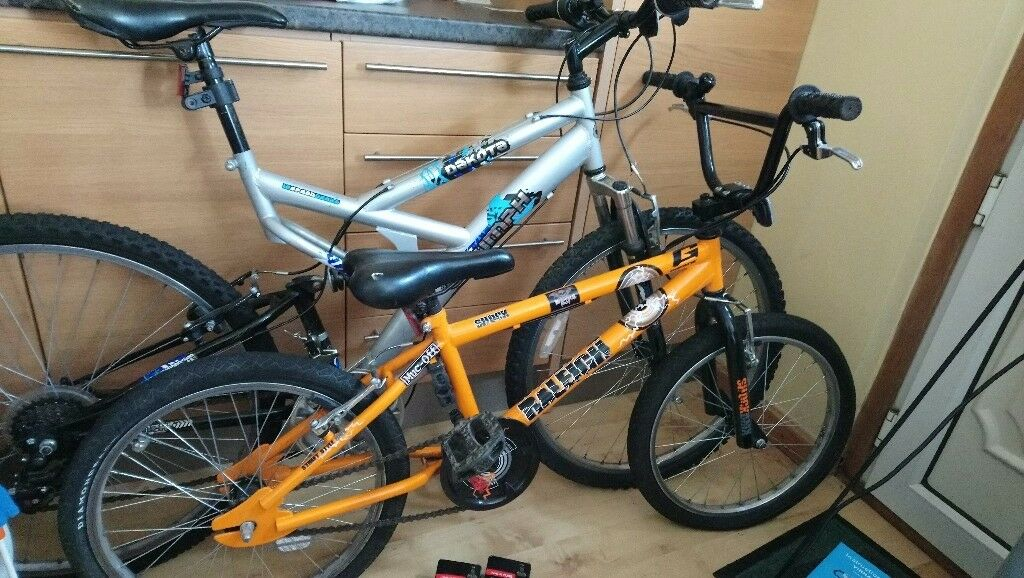 *REDUCED* 2 bikes Raleigh BMX Street Style and Triumph Dakota 18 speed gears mountain bike