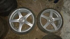 Set of 4 Huge 19'' alloys for Ford Focus with nearly new tyres Fiesta Escort