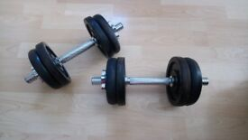 DUMBELLS YORK CAST NOT PLASTIC EXCELLENT CONDITION £30.00