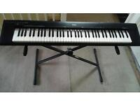 Yamaha 76 keys digital piano keyboard with Stand - Works fine