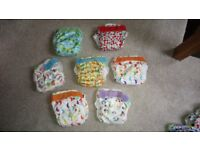 Reusable nappies suitable from birth to potty training