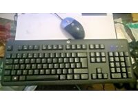 HP KU-1156 Usb Keyboard and HP Optical Usb Mouse very good condition