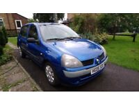 Clio 05 great cond low miles. Full mot and cheap tax. New cambelt feb 17. Ideal for new driver