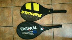 Two tennis rackets - Karakal and Babolat