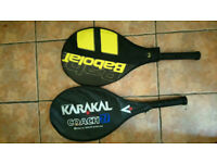 Two tennis rackets - Karakal and Babolat