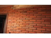 Wall tiles (270x55x20mm) - cut from real bricks