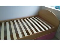 Single bed girls, perfect condition, with drawers underneath