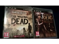 The Walking dead seasons 1 and 2 PS3 videogames