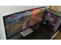 "Ultrawide curved gaming COMPUTER WQHD 34"" DELL U3415W"