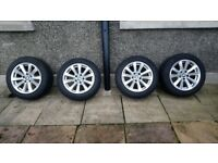 Genuine BMW 5 series alloys with winter tyres
