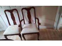 Dining Table and Six Chairs - vgc