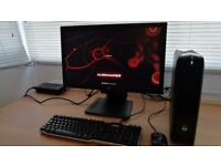 Alienware X51 pc (i7-2600 3.4GHz, 8GB RAM, 1TB HDD, GTX 555) + 23inch monitor+keyboard+mouse