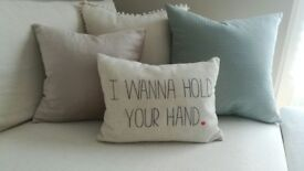 I Wanna Hold Your Hand quote Cushion