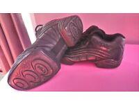 Kappa leather split sole dance trainers size 4.5