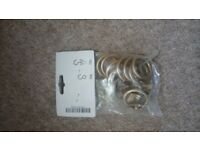 Gold colour 'clip' style curtain rings