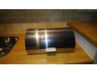 Shiny Chrome Morphy Richards Bread Bin (Excellent Condition)