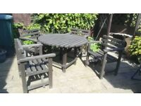 Garden Table and Chairs (pine, 120cm diameter)