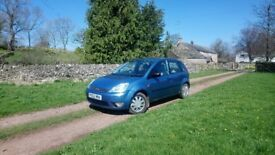 2002 Ford Fiesta 1.4 Ghia, Petrol, Mk5, Blue, Manual, 5 door, 80k, MOT, One family owned since new